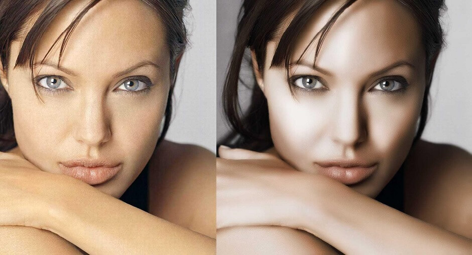 What is the difference between basic and professional photo retouching