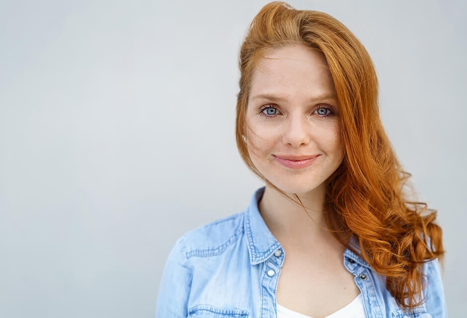 Photo Example after the use of Make a smile Retouching Feature