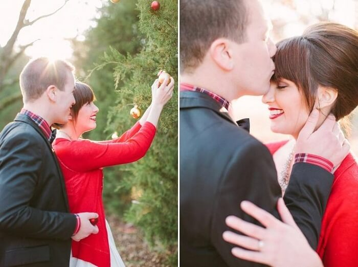 Christmas picture ideas for couples