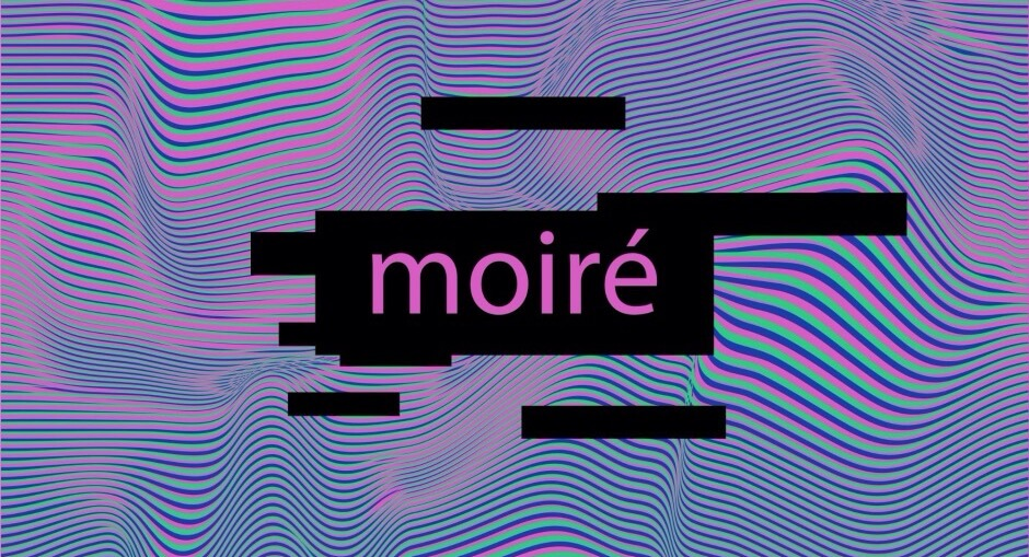 What is moire in photography?