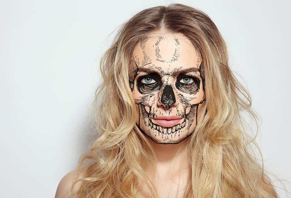 Photo Example after the use of Scary masks Retouching Feature
