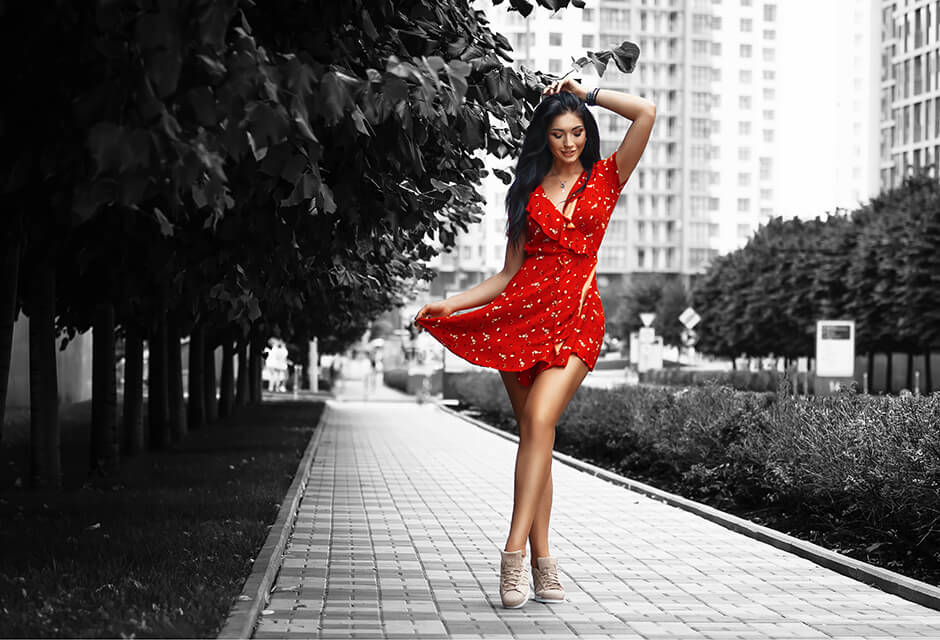 Photo Example after the use of Color splash Retouching Feature