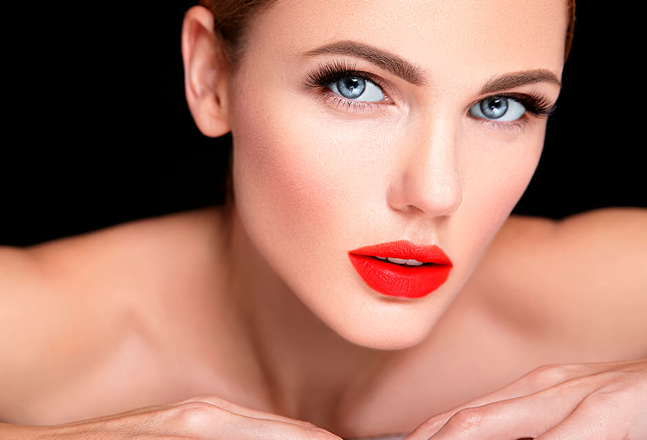 Photo Example after the use of Lipstick Retouching Feature