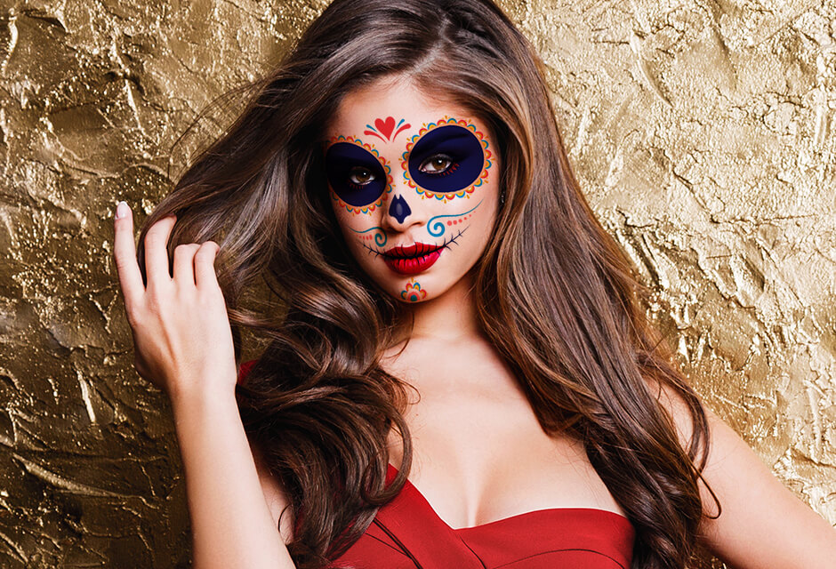 Photo Example after the use of Halloween Makeup Retouching Feature